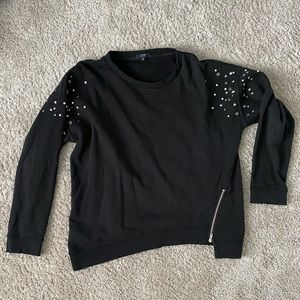 Joes Jeans Collection Distressed Jewelled Crewneck